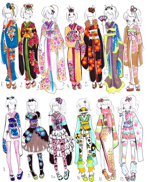 kimono pattern layout kimono designs closed by bejja on deviantart