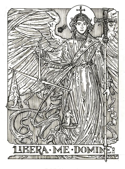 free st michael the archangel coloring pages