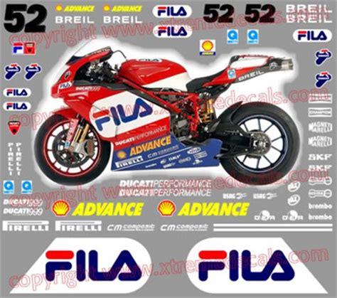 Ducati Infostrada Aufkleber by High Quality Decals For Ducati Ducati Sponsor Kits Decals