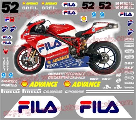 Ducati Fila Aufkleber by Ducati 2004 999 Fila Race Decal Kit