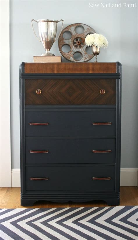 charcoal grey dresser charcoal gray waterfall dresser saw nail and paint