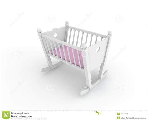 Cribs In Stock White Crib For Baby Royalty Free Stock Photography