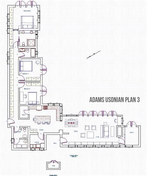 usonian house plans adams plan3 jpg 627 215 750 usonian pinterest usonian