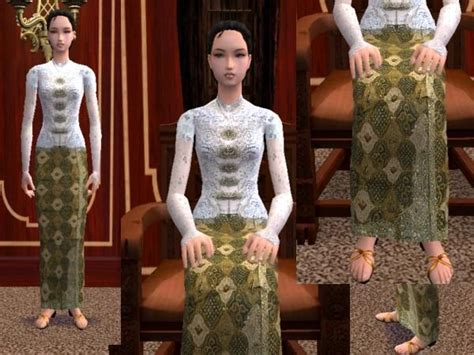 The Sims 3 Model Rambut by Mod The Sims Quot Kebaya Quot Clothes From Jawa Indonesia