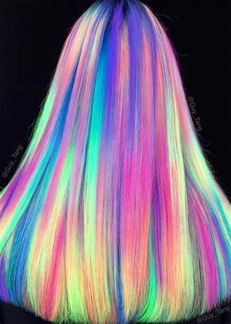 glow in the hair color best 25 neon hair color ideas on hair