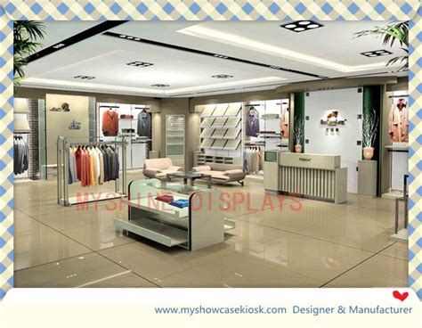 luxury brand retail clothing store furniture with wall