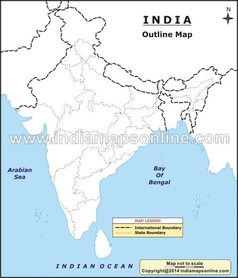 India Physical Map Outline A4 Size by 17 Best Images About Physical Feature Homework Maps And India Map