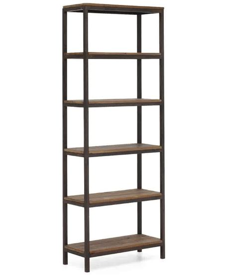 metal and wood bookcase for creating warm modern blend