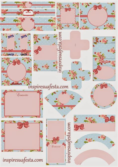 roses shabby chic free printable kit is it for parties is it free is it cute has quality