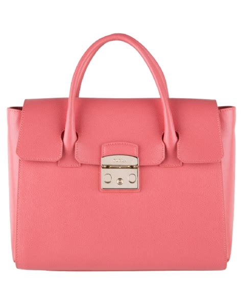 Tas Furla Metropolis God by Metropolis Medium Satchel Color Corallo 808322 Furla