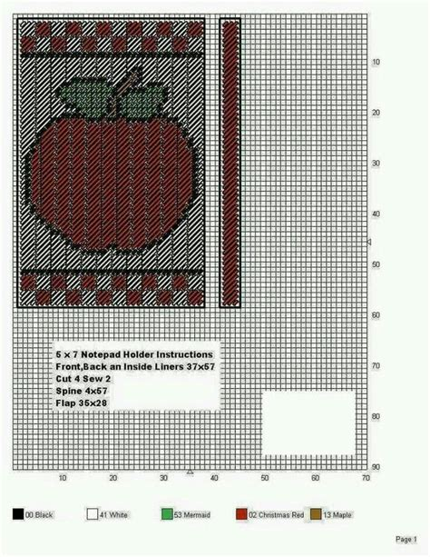 notebook slipcover pattern apple 5x7 notepad holder by tdl plastic canvas