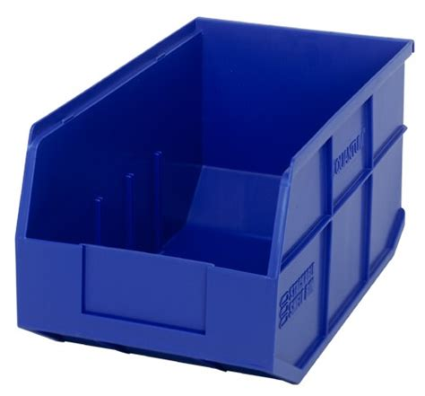 plastic storage stackable shelf bin ssb443 14 quot x 8 1 4