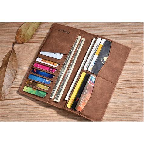 Dompet Panjang Pria Kulit 2 dexbxuli dompet kulit pria retro model panjang black