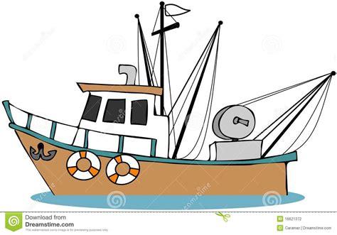 cartoon trawler boat fishing boat stock illustration illustration of cartoon