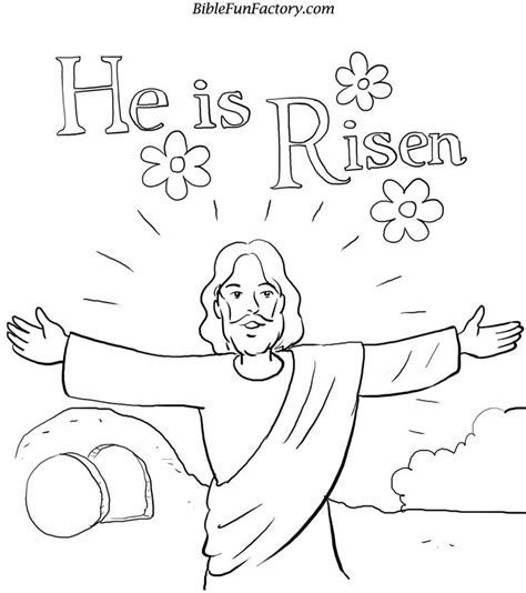 easter coloring pages jesus is alive he is risen coloring page lent holy week easter