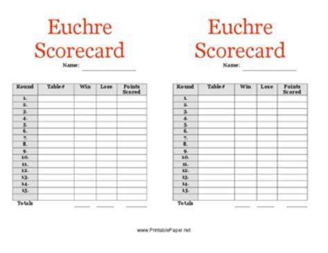 printable euchre instructions scores on pinterest