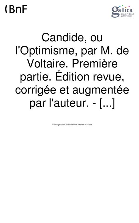 candide ou l optimisme edition books calam 233 o candide voltaire ebook