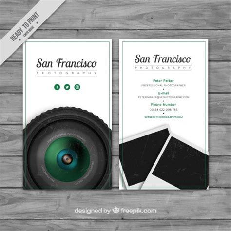 business card studio realistic business card for a photography studio vector free