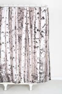 Birch Tree Fabric Curtains Birch Tree Shower Curtain Contemporary Shower Curtains By Outfitters