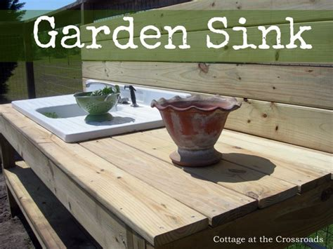 A Sink in the Garden   Cottage at the Crossroads
