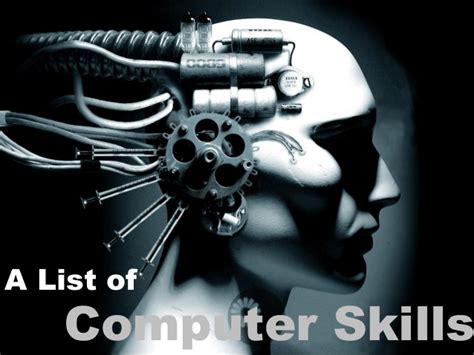 a list of computer skills