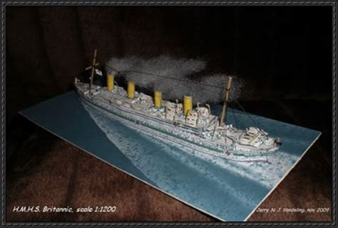 Papercraft Titanic - papercraftsquare new paper craft olympic class