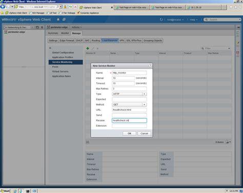 vmware nsx configuring load balancing lostdomain org