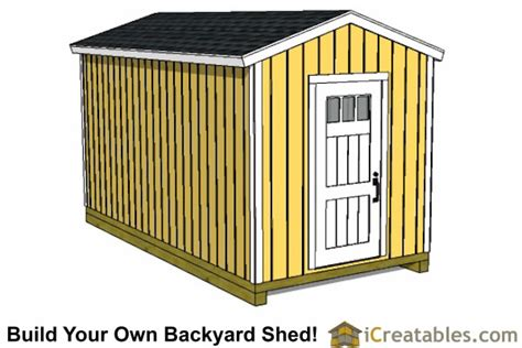 Free 8 X 16 Shed Plans by Woodworking Projects Free 8 X 16 Gable Shed Plans