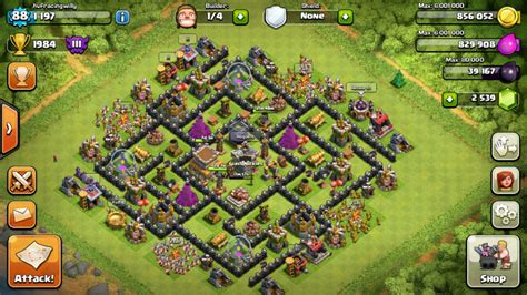 layout coc th8 4 mortar best coc defense th 8 base car interior design