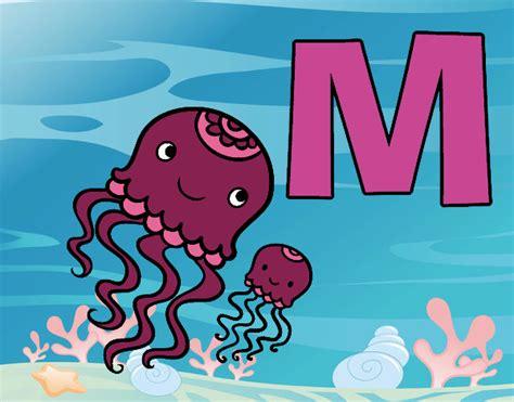 desenho de letra m pintado desenho de m de medusa pintado e colorido por usu 225 n 227 o registrado o dia 20 de agosto do 2015