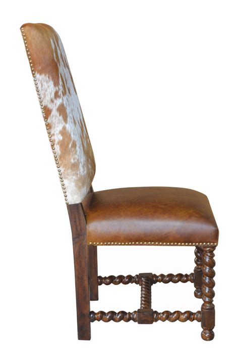 Cowhide Dining Chair Barley Twist Cowhide Dining Chair Proffitt