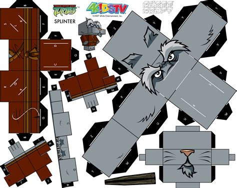 Tmnt Papercraft - splinter turtles papercraft