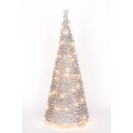 walmart pull up christmas tree 4 silver tinsel pull up tree by northwoodstm walmart
