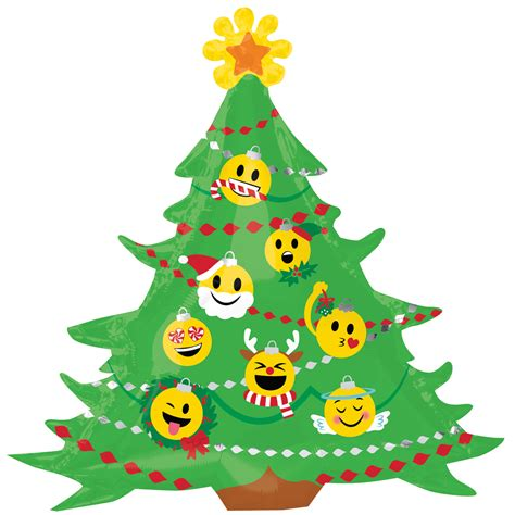 christmas tree moving emoticon emoticon emoji tree large supershape balloon decoration 26635362054 ebay