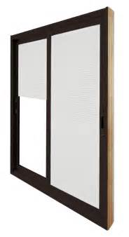 Brown Sliding Patio Doors Stanley Doors Sliding Patio Door Mini Blinds 5 Ft 60 In X 80 In Brown