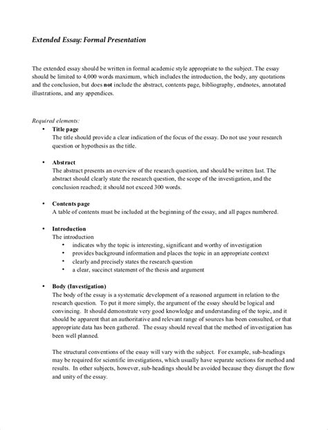 samples  formal essays   examples