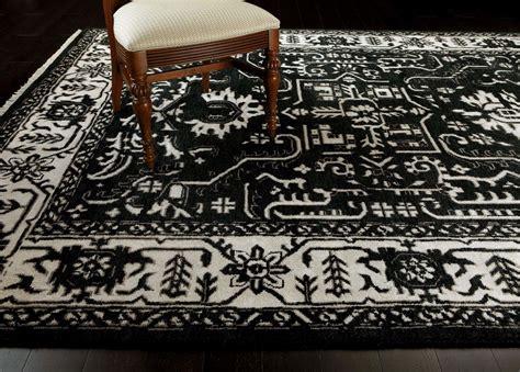 carpet and rug shop heriz deconstructed rug black ivory traditional patterned rugs