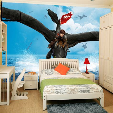 how to train your dragon bedroom dragon murals promotion shop for promotional dragon murals
