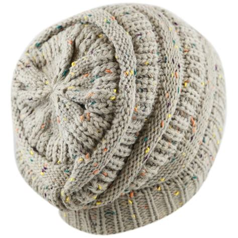 Winter Hat Wh 44 knit beanie with multi color confetti