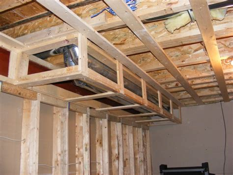 project ideas framing a basement ceiling for drywall