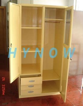 metal wardrobe cabinet with drawers fashionable bedroom steel wardrobe cupboard with mirror