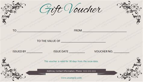 elegant gift voucher template by get certificates