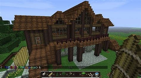 minecraft log house log cabin minecraft project