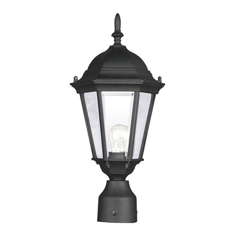 landscape lighting accessories patio living concepts cape cod in outdoor black post lantern with planter 66000 the home
