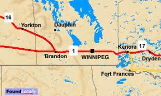 map of trans canada highway manitoba trans canada highway information