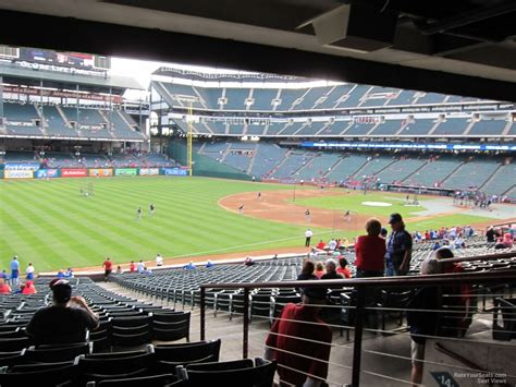rangers sections globe life park section 114 rateyourseats com