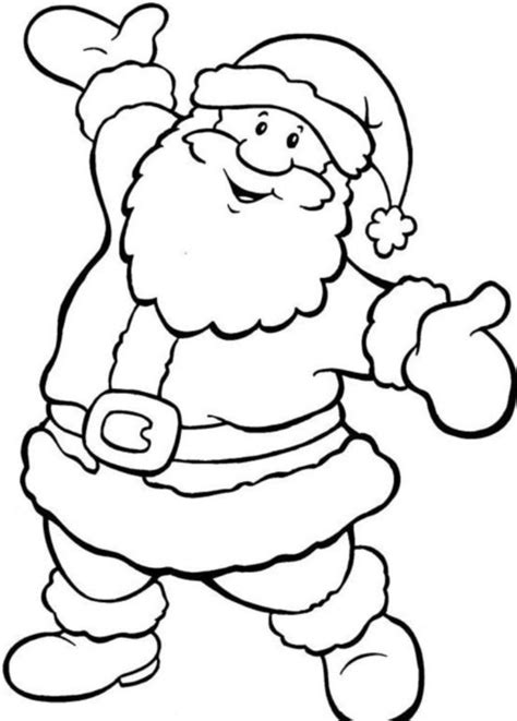 simple santa christmas coloring coloring pages