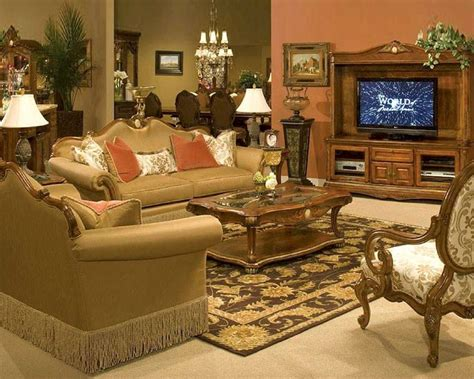 bedroom and living room sets aico living room set cortina ai 6581525