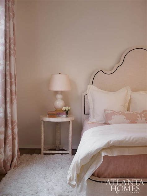 pale pink bedroom bedrooms coral pink and ivory fabric design ideas