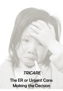 Tricare Standard Emergency Room by The Er Or Urgent Care The Decision Usmc